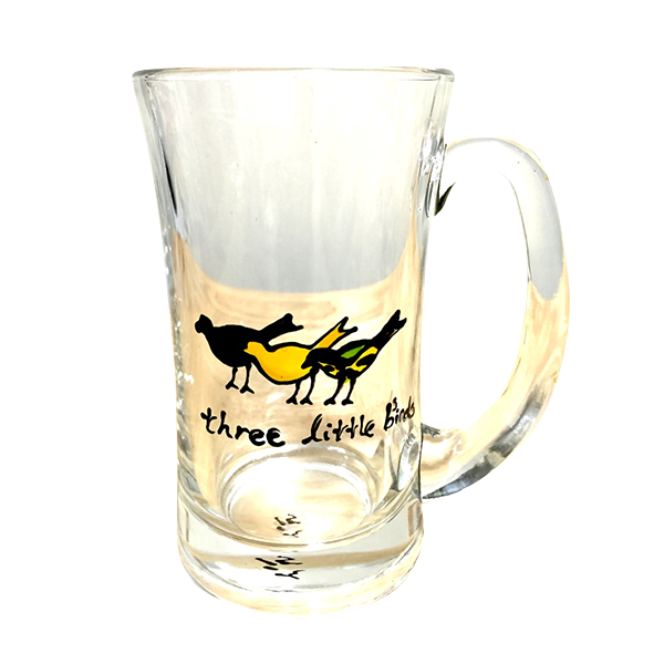 Three Little Birds ジャマイカのガラスカップ (手作り)