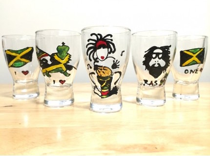 IRIE REGGAE SHOT GLASS SET (5 個)