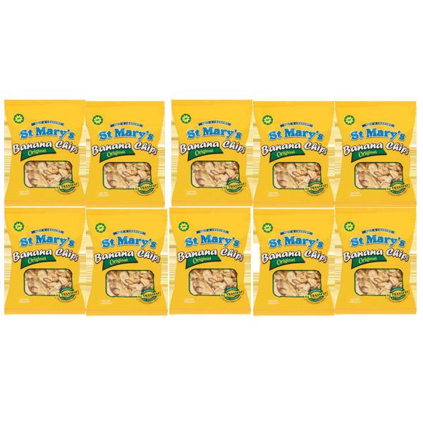 セントメリーズバナナチップス 10パック (30g )